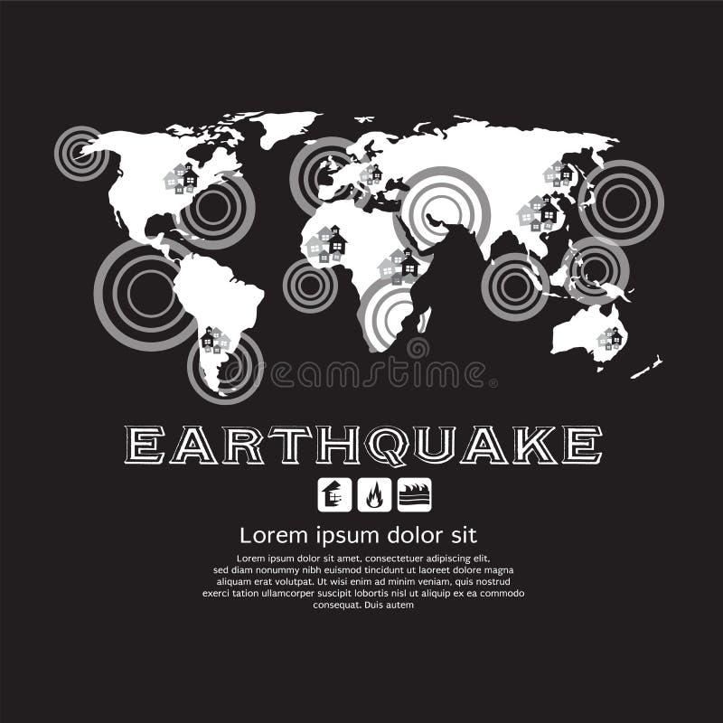 Terremoto. ilustração royalty free