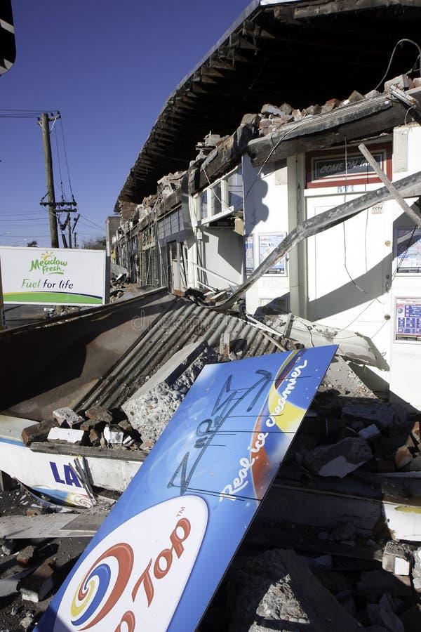 Terremoto 4 setembro 2010 de Christchurch imagens de stock