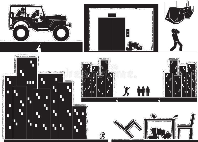 terremoto ilustração stock
