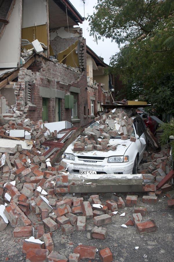 Terremoto de Christchurch 22 fevereiro 20011 fotografia de stock