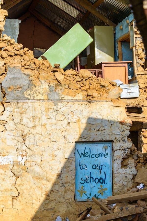 Terremoto de Nepal fotografia de stock royalty free
