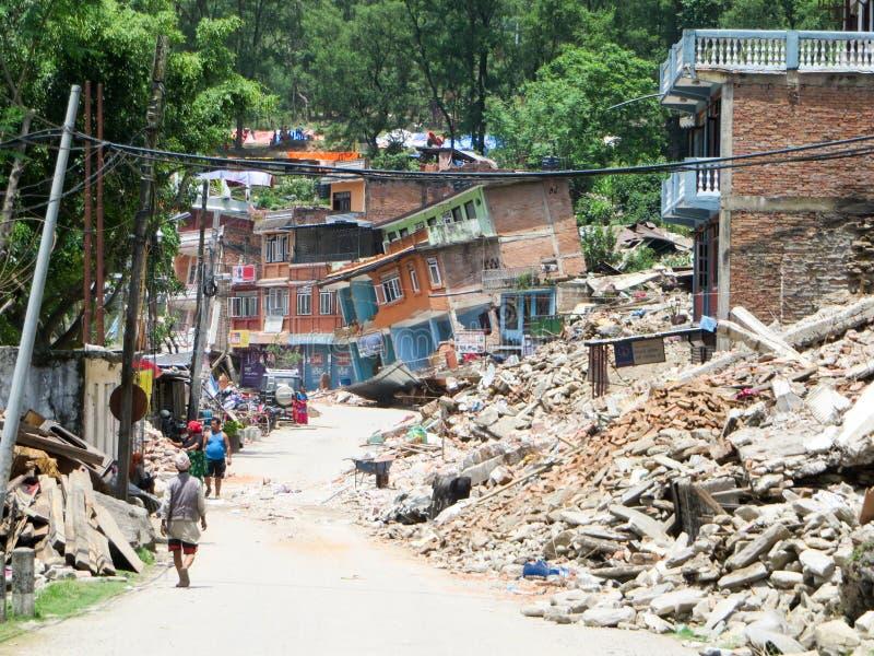 Terremoto de Nepal imagem de stock