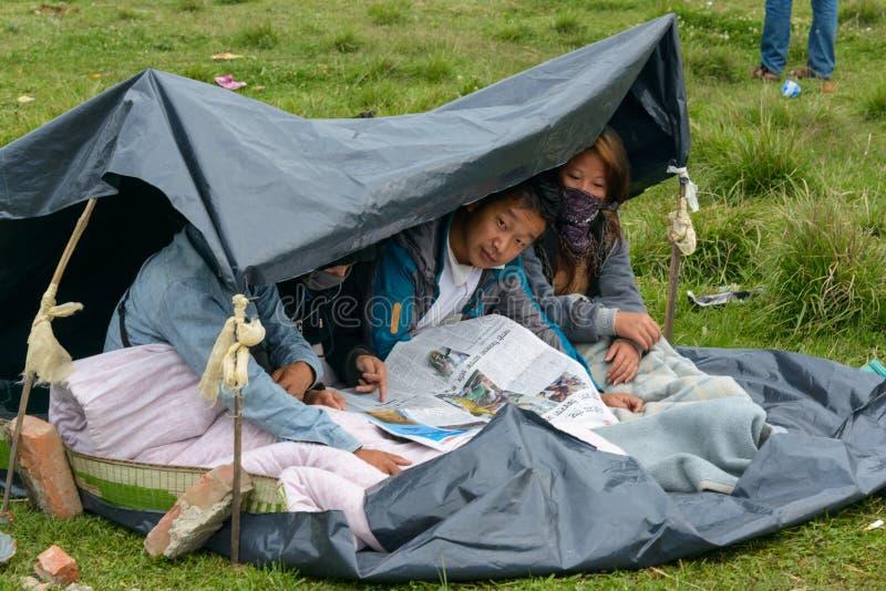 Terremoto de Nepal em Kathmandu fotos de stock royalty free