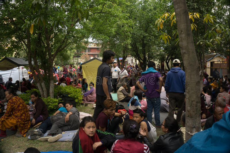 Terremoto 2015 del Nepal Kathmandu fotografie stock
