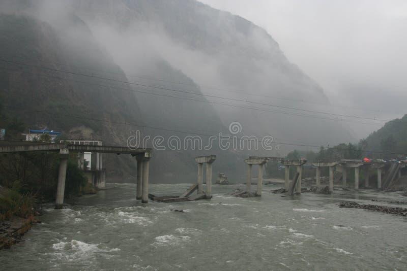 Terremoto del Sichuan fotografia stock