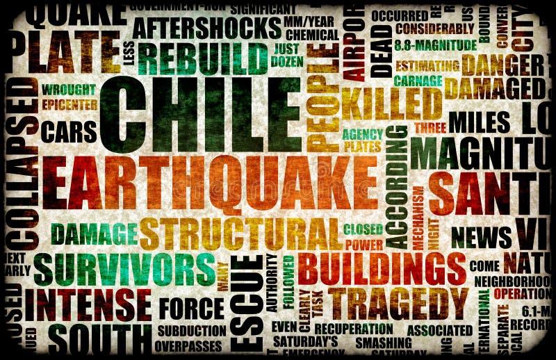 Terremoto do Chile ilustração do vetor