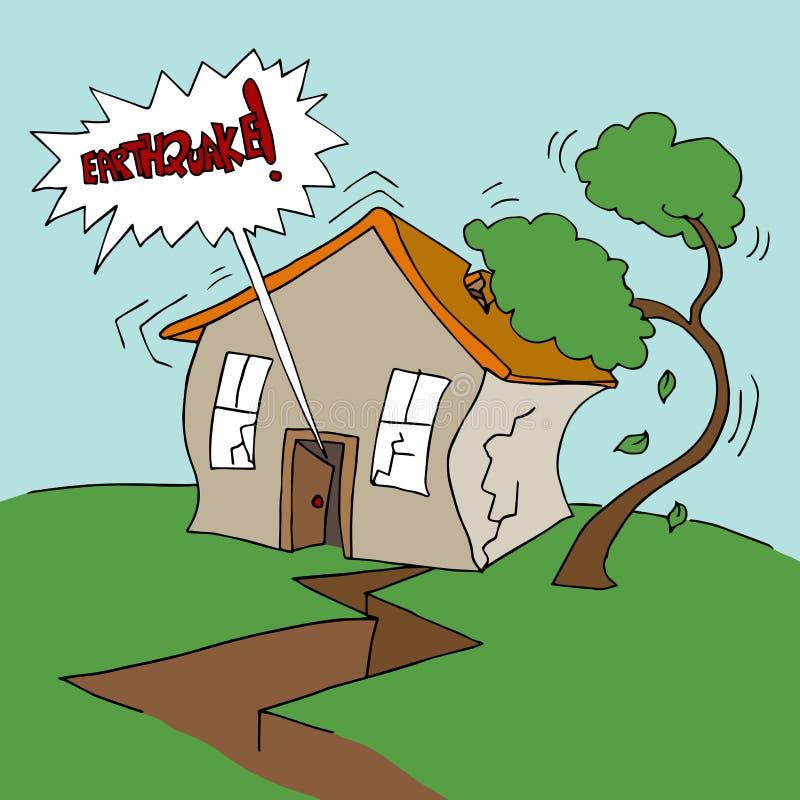 Terremoto em casa ilustração royalty free