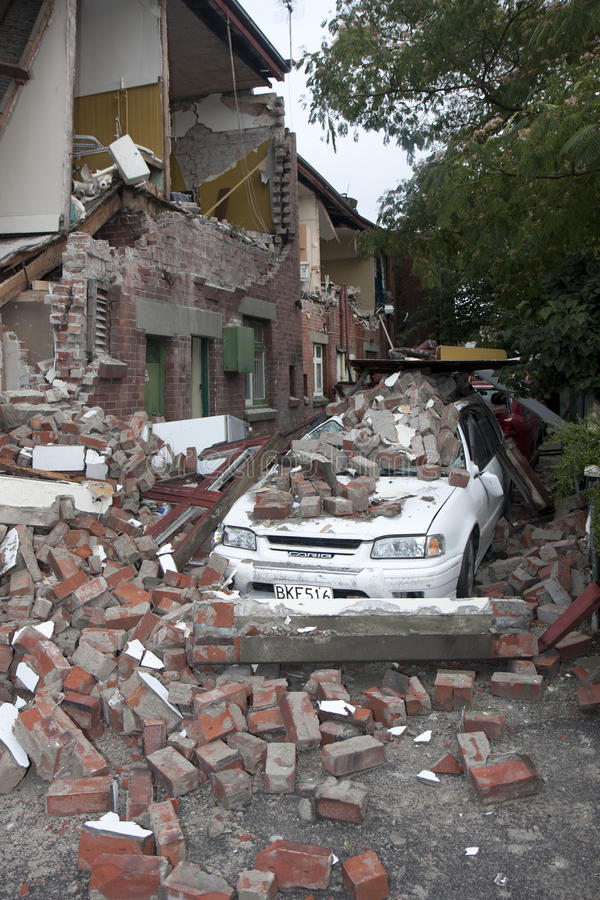 Terremoto il 22 febbraio 20011 di Christchurch fotografia stock