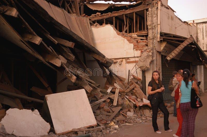 Terremoto no Chile, 2010 fevereiro 27 imagens de stock royalty free