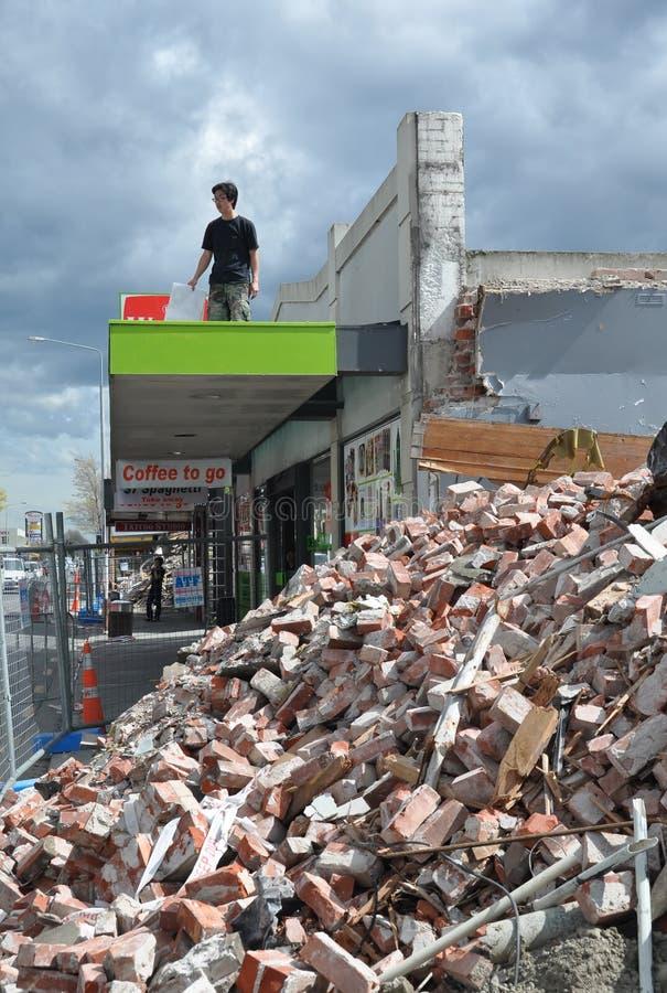 Terremoto Riccarton de Christchurch, Nova Zelândia imagens de stock royalty free