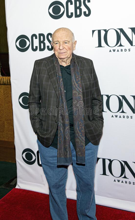Terrence McNally at the Meet the Nominees Press Junket stock photo