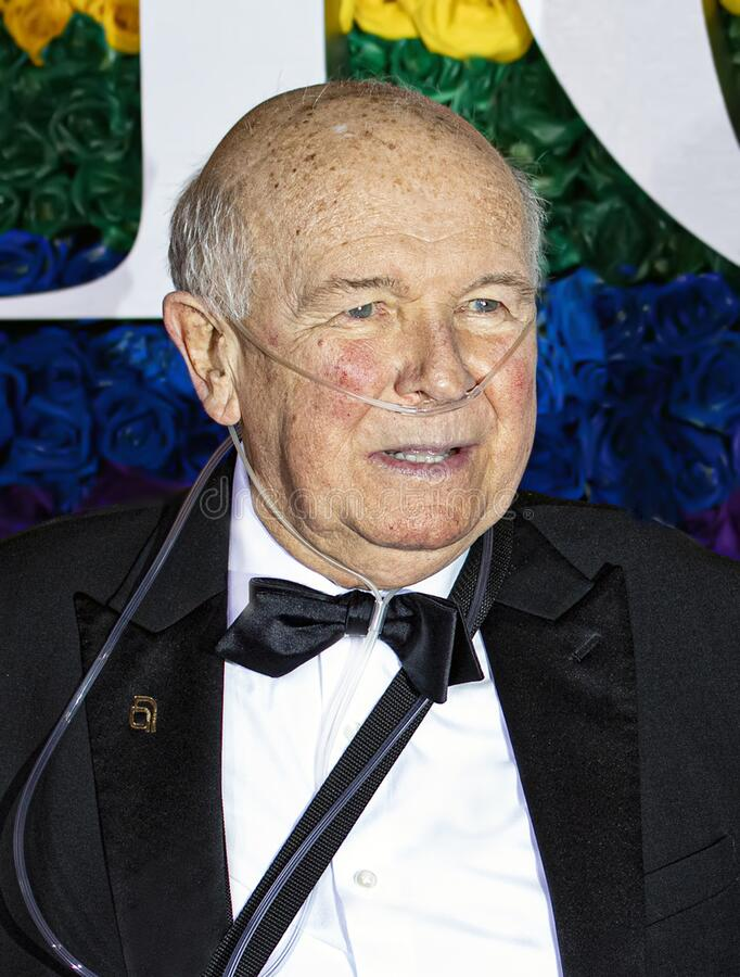 Terrence McNally at the 73rd Annual Tony Awards royalty free stock images