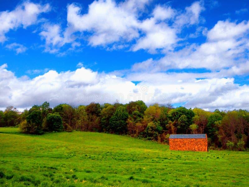 Terreno coltivabile in Simsbury Connecticut fotografia stock