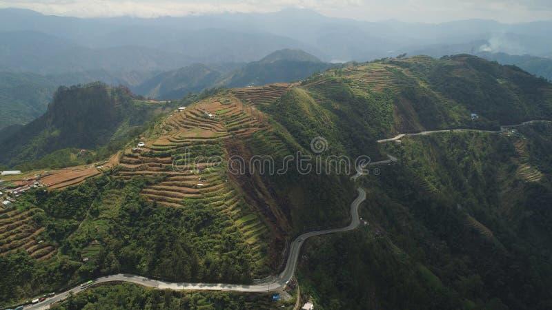 Terreno coltivabile in una provincia Filippine, Luzon della montagna fotografia stock