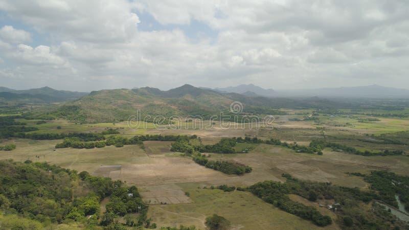 Terreno coltivabile in una provincia Filippine, Luzon della montagna fotografie stock libere da diritti