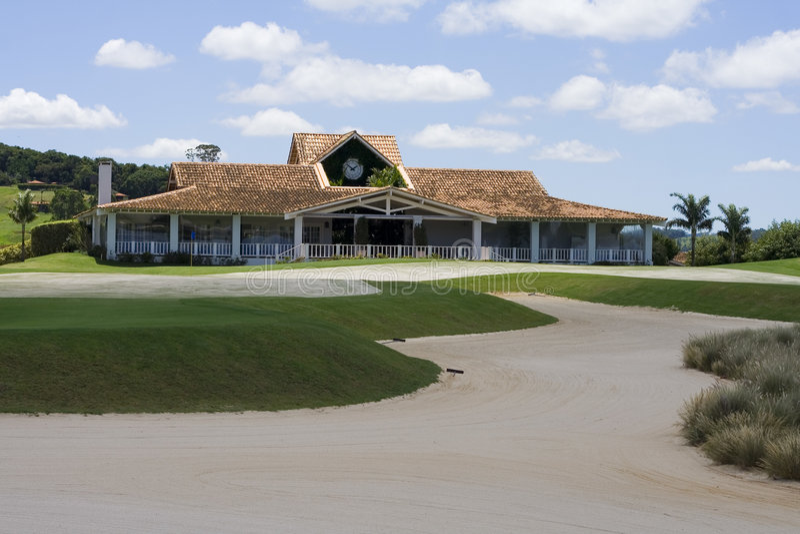 Terreno da golf immagini stock libere da diritti