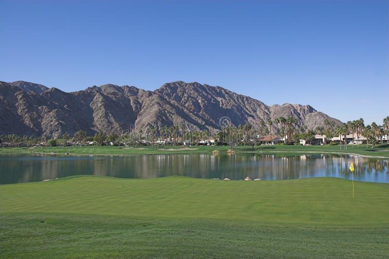 Terreno da golf ad ovest di Pga, Ca immagine stock