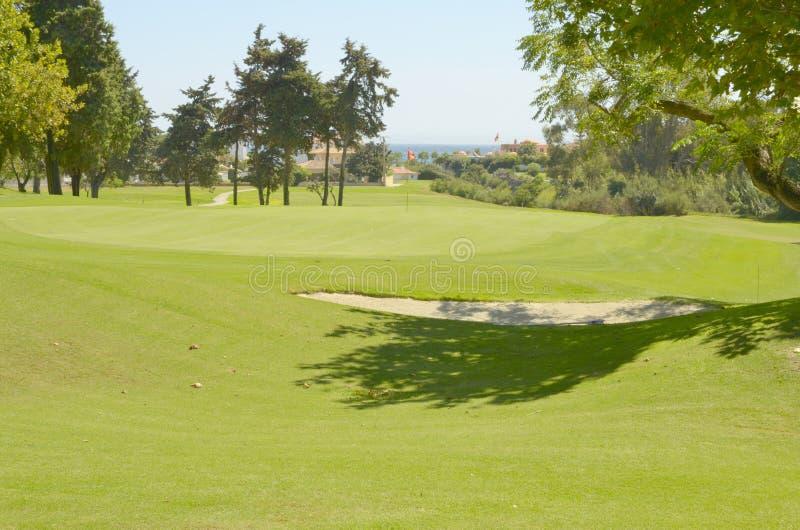 Terreno da golf fertile fotografie stock
