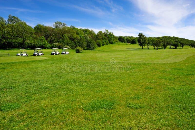 Terreno da golf sull'isola della Bornholm fotografie stock libere da diritti