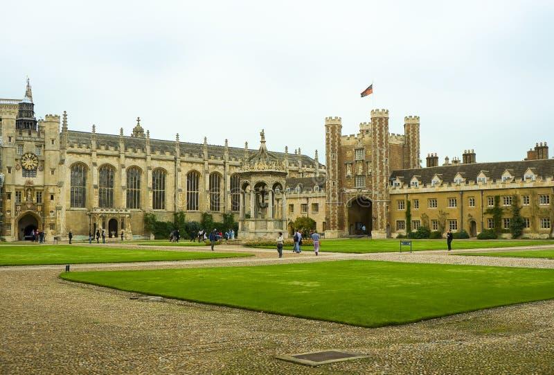 Terreno da Universidade de Cambridge foto de stock