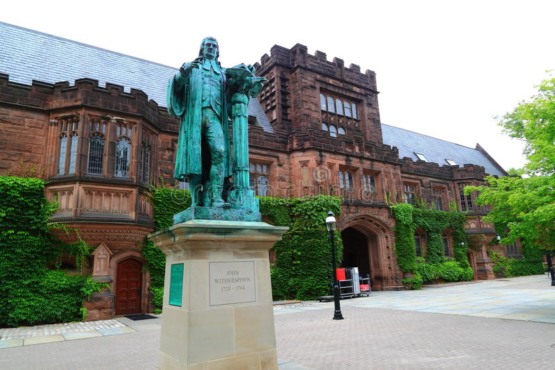 Terreno da Universidade de Princeton fotografia de stock