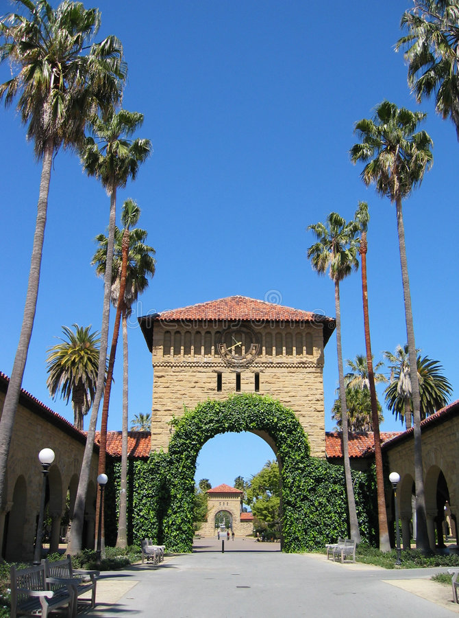 Terreno da Universidade de Stanford foto de stock royalty free