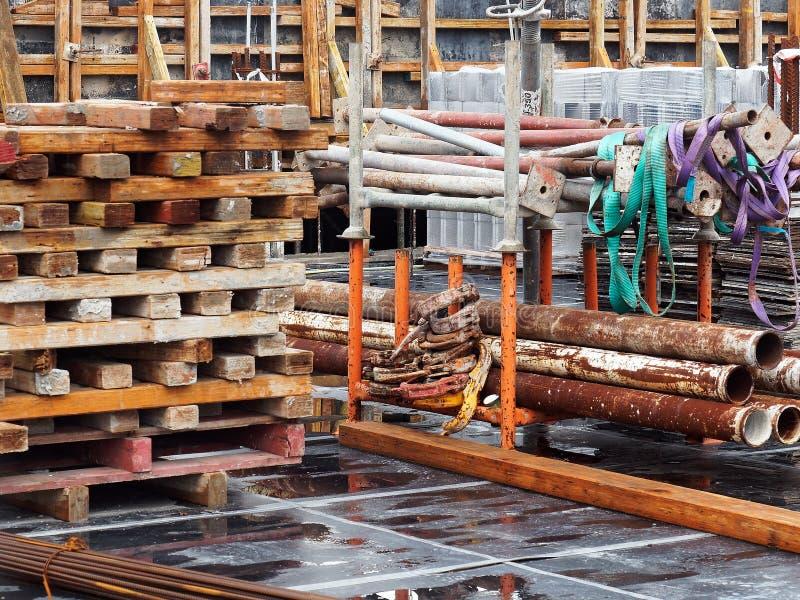 Terreno de construção congestionado fotos de stock royalty free