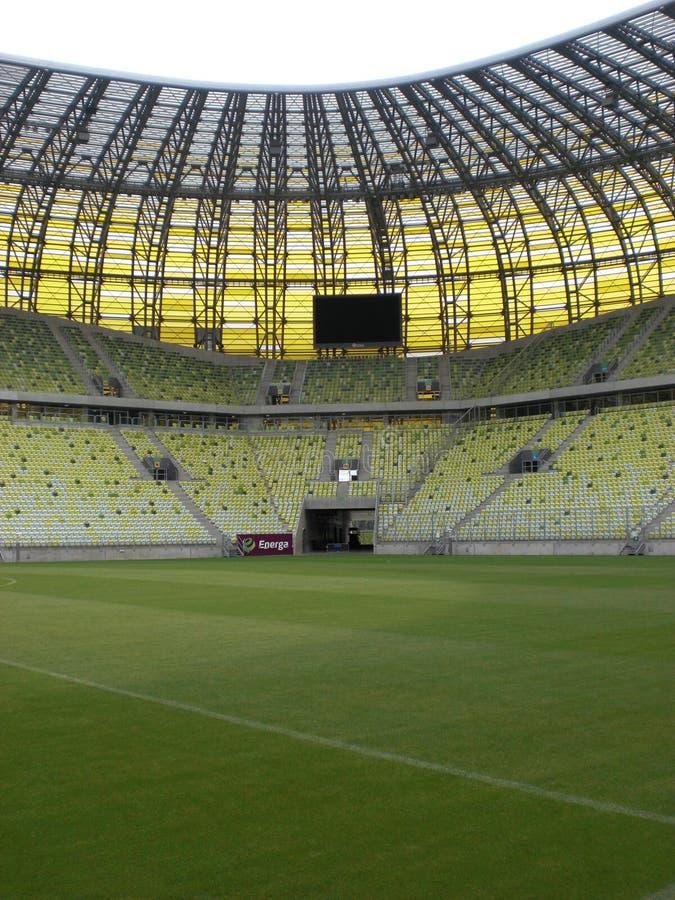 Terreno de juego del estadio de Gdansk de la arena de PGE fotos de archivo