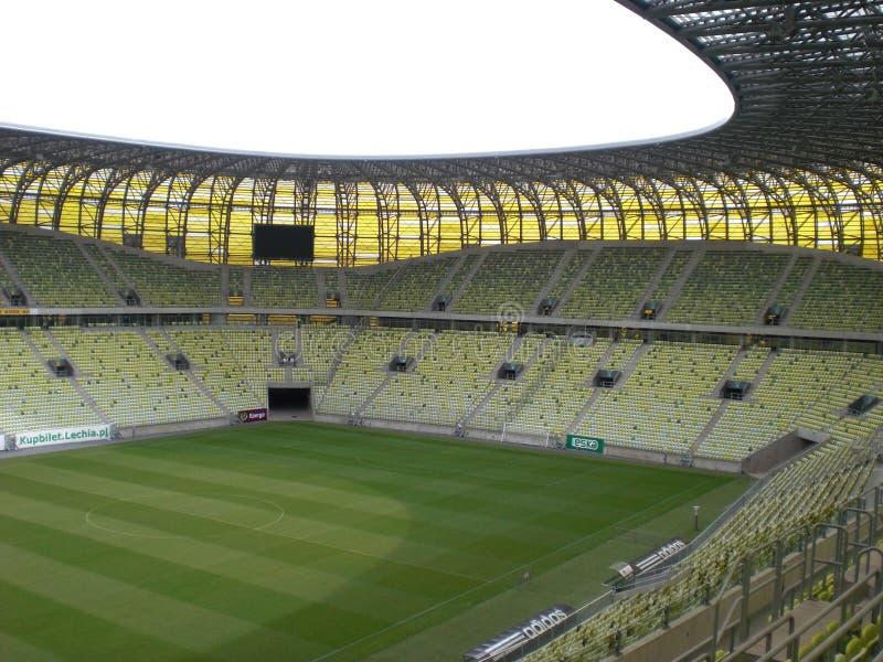 Terreno de juego del estadio de Gdansk de la arena de PGE imagenes de archivo