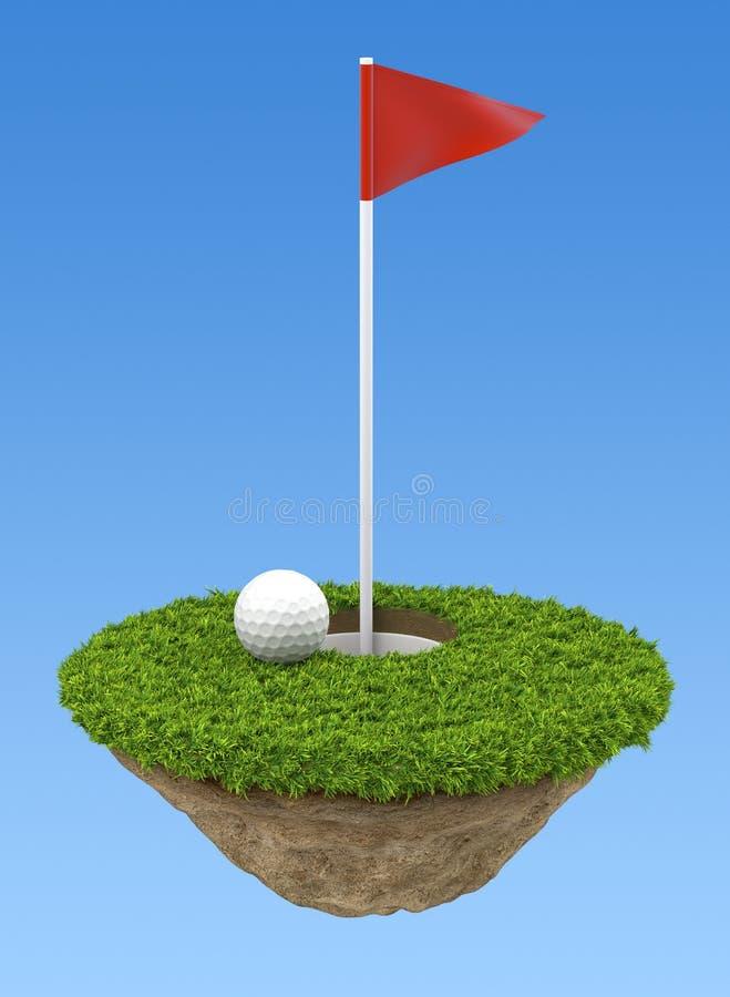 Terreno do golfe ilustração royalty free