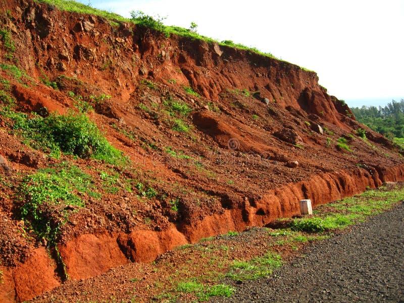 Terreno-v di colore rosso indiano fotografia stock