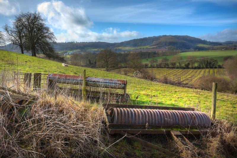 Terres cultivables chez Ridney supérieur, Eardiston, Worcestershire photographie stock