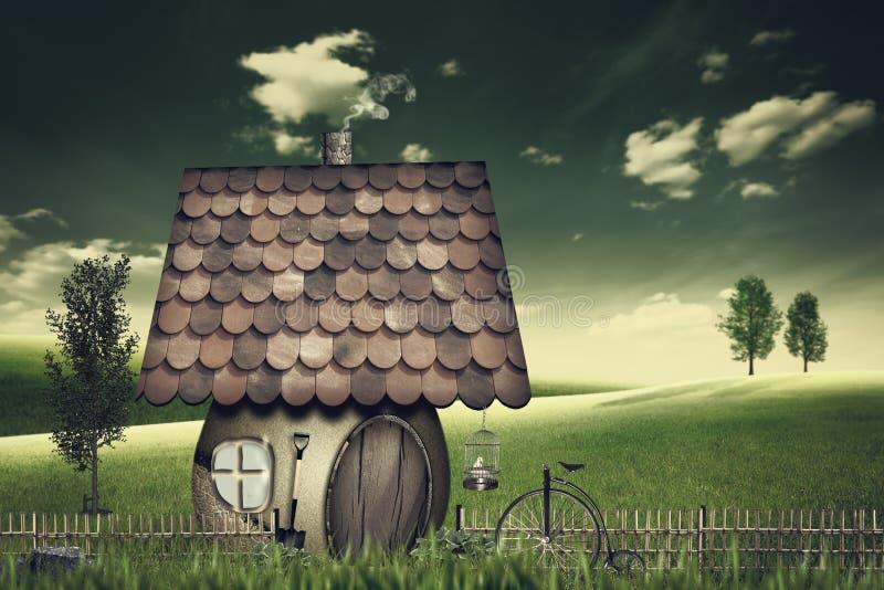 Terres cultivables et maison de beauté illustration libre de droits