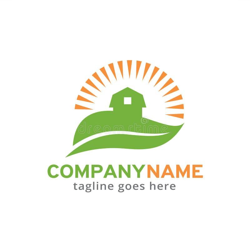 Terres cultivables Logo Template Design Vector, emblème, concept de construction, symbole créatif, icône illustration libre de droits