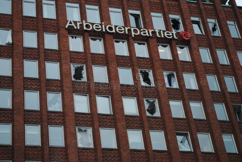 Terreur à Oslo photos libres de droits