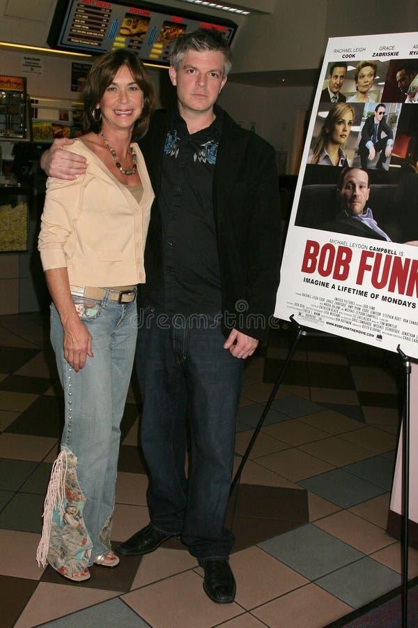 Terri Mann en Ben Ruffman bij de Première van Los Angeles van de ?Lafbek van het Loodje?. De Zonsondergang van Laemmle 5 Theaters, royalty-vrije stock afbeelding