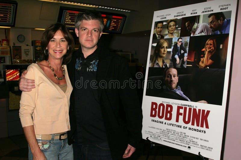 Terri Mann y Ben Ruffman en la premier de Los Ángeles del ?canguelo de Bob?. Teatros de la puesta del sol 5 de Laemmle, Los Ángele fotografía de archivo libre de regalías