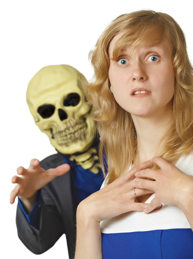 Terrible death came young woman stock image