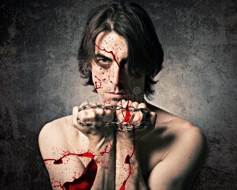 Download Terrible evil man stock photo. Image of kill, fists, evil - 27347386