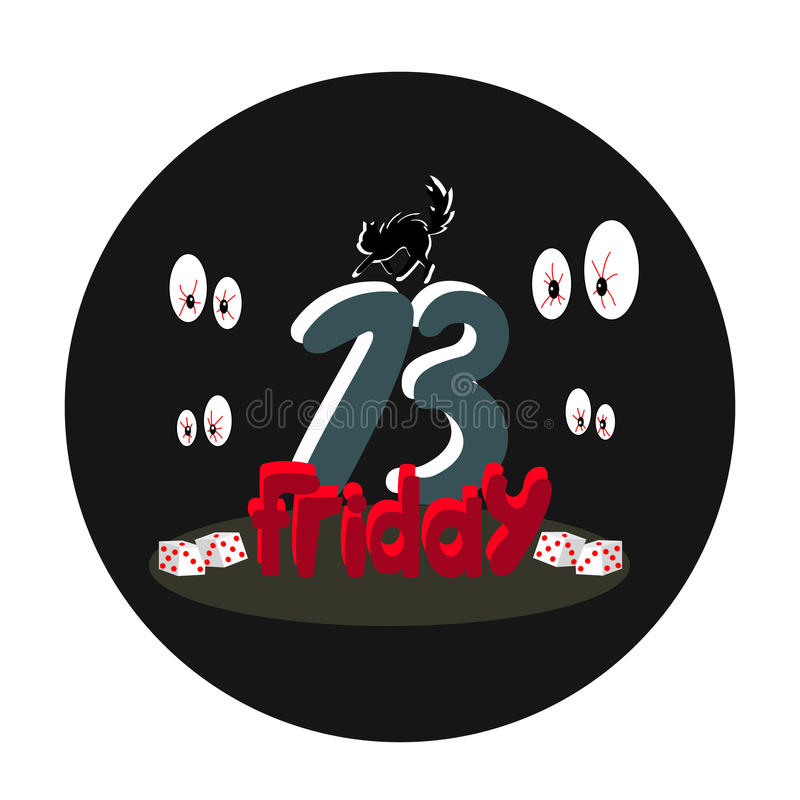 A terrible Friday 13 design. A cute terrible Friday 13 design vector illustration