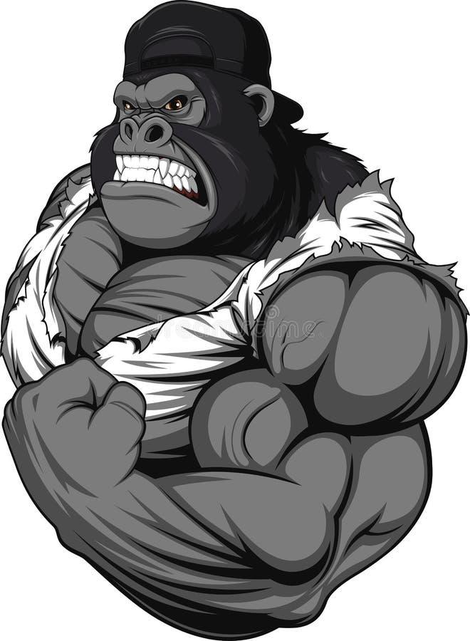 Free Terrible Gorilla Athlete Royalty Free Stock Photos - 61940128