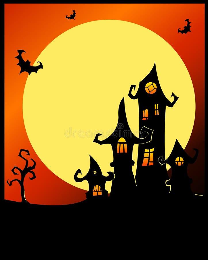 Terrible Halloween Castle. Stock Photography