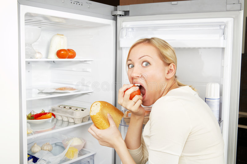 Terrible hunger royalty free stock photography