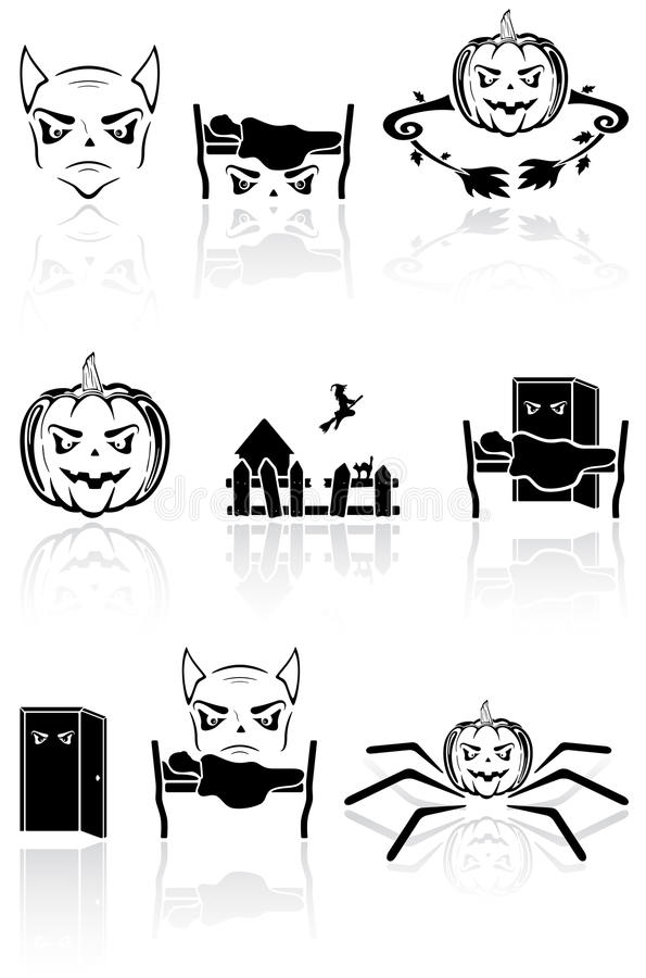 Download Terrible icons stock vector. Image of house, black, devil - 26334294