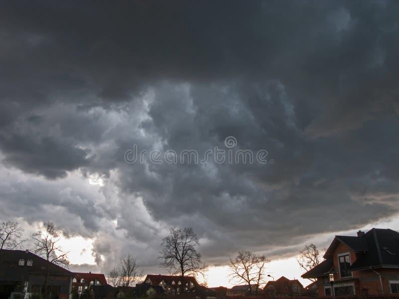 Terrible, nuages de tempête image libre de droits