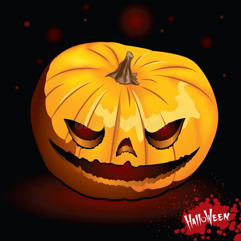 Download Terrible pumpkin stock vector. Image of menacing, light - 9802206