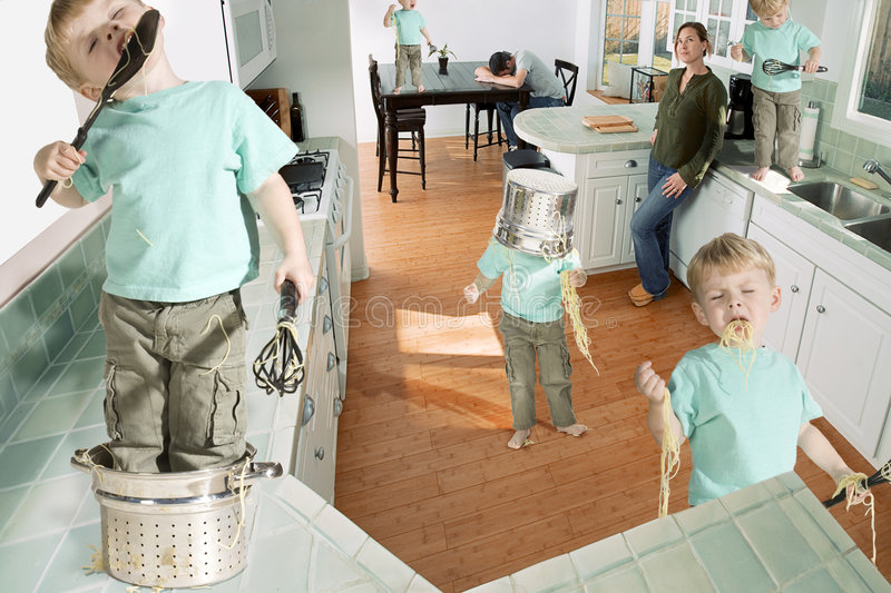 Download Terrible twos stock photo. Image of green, cabinets, terrible - 5198480