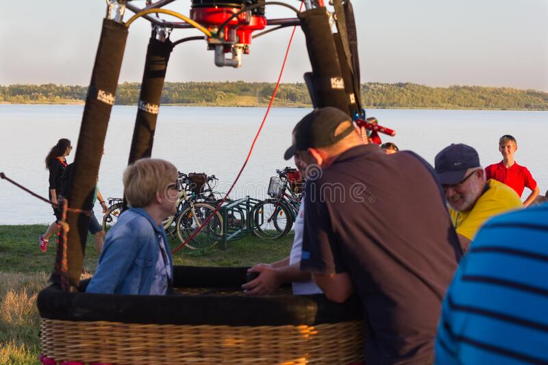 A terribly cool festival, on the Tarnobrzeskie Lake. royalty free stock photography