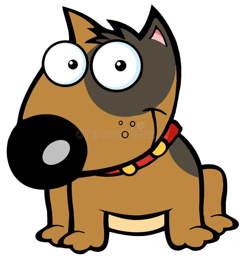 terrier коричневого быка счастливый сидя бесплатная иллюстрация