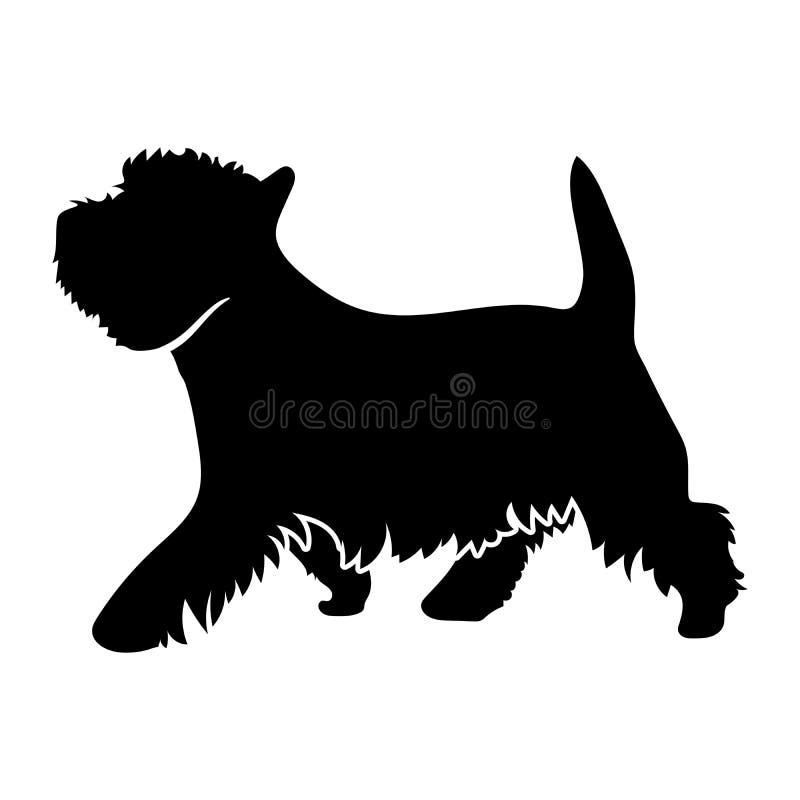Terrier bianco di altopiano ad ovest royalty illustrazione gratis